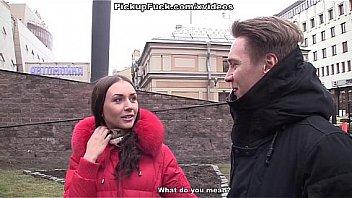 GERMAN SCOUT - Studentin nach der Uni in Muenchen aufgerissen und bei Fake Model Job gevoegelt