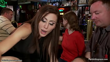 Natural huge boobs slut Alexia Rae is whipped and vibrated and tazappered and anal fucked by Princess Donna Dolore and Ramon Nomar in public