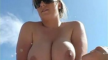 Big boobed girl fucks by and in the pool