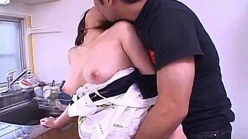 Kokoro Miyauchi Asian milf is sexy maid enjoying tits licked