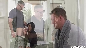 Watch Big tit Becky decided to teach her wimpy husband a lesson by bringing a boyfriend to fuck her hungry pussy in front of him since all he does is sit and play video games! preview