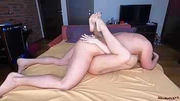 Hot Babe Sucking Dick and Doggy Fucking - Cum on Butt