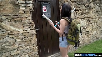 Kinky teen pays with taboo fuvk for a room to old man