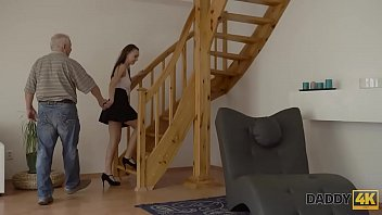 DADDY4K. Nice young chick having fun with her bf's dad