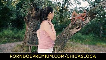 CHICAS LOCA - Luscious babe rides BBC in nature