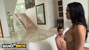 BANGBROS - Busty Latina MILF Diamond Kitty Engages In Inappropriate Threeway With Stepdaughter