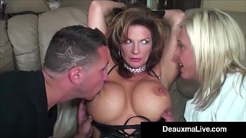 Cat Woman Cougar Deauxma wears A Hot Latex Skin Tight Outfit while Karate Super Girl Carey Riley battles her but Bad Guy (with big dick) k. Deauxma! Full Video & Live @DeauxmaLive.com!