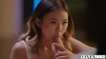 VIXEN Asian beauty craves hard cock