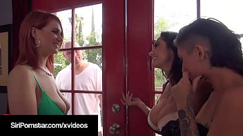 Beautiful Huge Boobed Siri Pornstar gets a Peeping Pervert Dick in her thick twat while Ava Addams & Aime Black spread their legs as well in this hot foursome! Full Videos & Photos @ SiriPornstar.com!