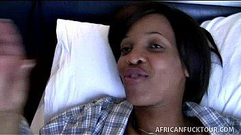 African girlfriend in homemade interracial sex tape