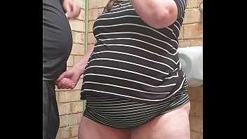 HOT BBW MILF SMOKES IN PUBLIC TOILETS & GUSHES EVERYWHERE