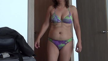 COMPILATION OF EROTIC MOMENTS OF MOTHER ON THE BEACH, BEAUTIFUL WIFE, HAIRY PUSSY, IS EXHIBITED IN UNDERWEAR AND BIKINI TO MASTURBATE, HIDDEN CAMERA, ORGASMS, STRAWS