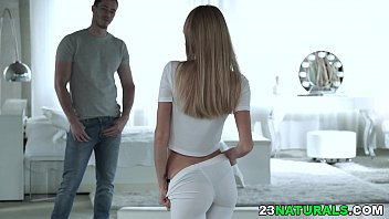 Pretty blonde has orgasm on a hard dick