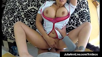 Beautiful Busty Milf Julia Ann dresses up as a nurse & fucks her horny client who films this hot sexual encounter! Super Sexy Spycam Clip!