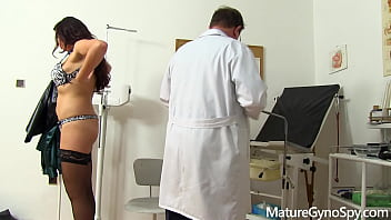 Sexy MILF caught by voyeur cam on her gyno exam