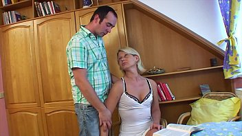 Horny son fucking his hot blonde stepmother