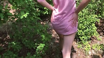 Fucked Beauty with a Perfect Body in the Woods and Cum in Panties
