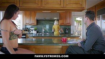 Family Strokes - Hot Teen (Geneva King) Fucked Stepdad