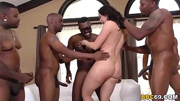 Penthouse Pet Chanel Preston takes on numch of black guys