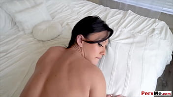 Busty stepmother gets the D of stepson POV stlye
