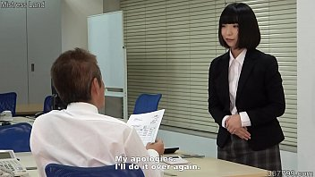 Japanese dominatrix Ai dressed as an office lady