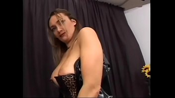 Hot chick in black latex suit eagerly sucks cock and has sex