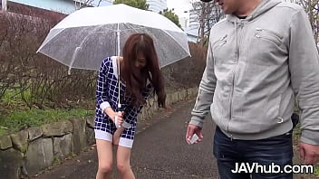 Japanese cutie squirts while being fingered then has her pussy penetrated