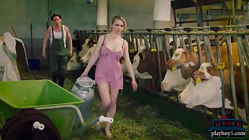 Sex robot malfunctions and cheats on her master in a barn