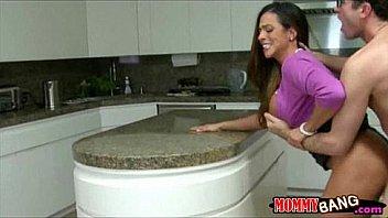 Stepmom Ariella Ferrera sharing dick...