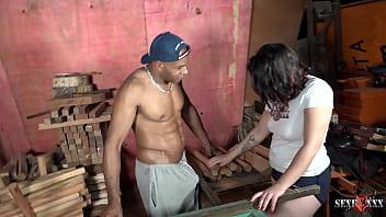 Ela queria outro tipo de madeira Luccy Joplin chupou e sentou sem frescura no safado