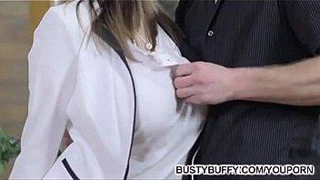Busty Buffy fucks for cum on tits.