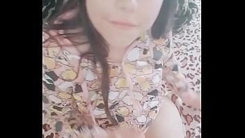 Beautiful teenager masturbating her tiny tight pussy