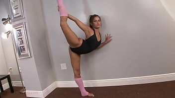 cute teen chichi medina gets stretched and rough fucked in extreme flexible gymnastic sex positions by her big cock trainer