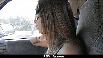 POV Life - Petite Teen Babe (Liza Rowe) Helping Boss To Cum