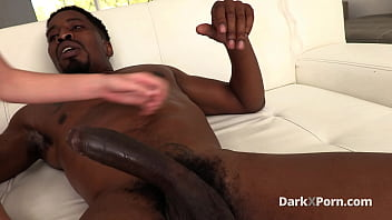 Big black cock in a tight white ass