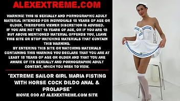 Maria Fisting extreme insertions in ass & pierced pussy