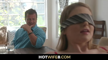 Hubby Blindfolds His Bride To Have Sex With A Stranger While He Praises