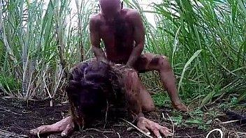 Girl Fucked in bush
