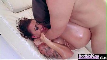 Hot Oiled Girl (Eva Angelina) With Huge Ass Enjoy Anal Sex vid-16