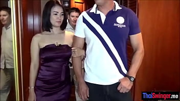 Hot asian wifey gets impregnated by a stranger while her husband is watching
