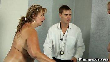 Busty SSBBW cockriding her referee