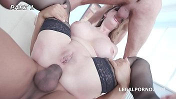 Cathy Heaven gets the Gang Bang Ass Fuck of her Life by 7 Dudes!