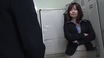 Japanese lady boss fucks at the office after working hour