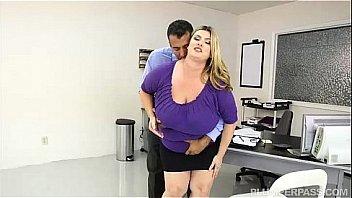 Fat girl fucks manager