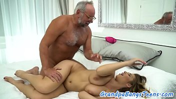 Big titted milf fucking and old guy