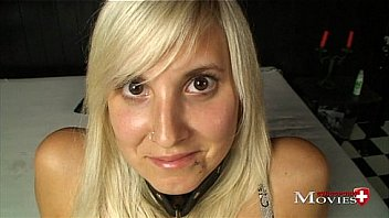 Young Sex-Slave Jill 18y. get used from her Master... Tied up he pumps her twat,  and rewards with sperm. Take a look at this slave... It's her first time as a Sex-Slave...