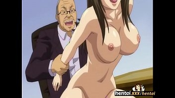Super hot brunette employee with big tits cums on her boss big dick! Hentai.xxx