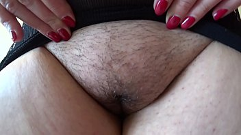 BBW lesbian with hairy cunt fucks with girlfriend. A fetish for lovers of a huge ass, fat belly and plump thighs in stockings.