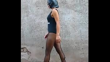 Gatita walking down the street dressed as a whore @KarlayCarlos1
