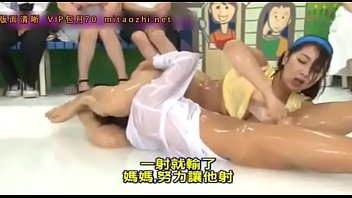 Japanese oil strip wrestling